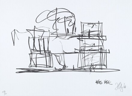 Study for New Frank Gehry House