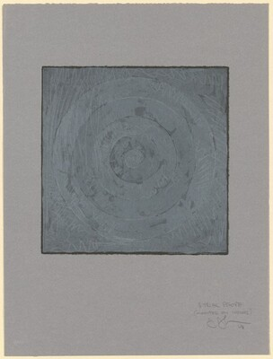 White Target [1/4 trial proof - mounted on Ingres paper]
