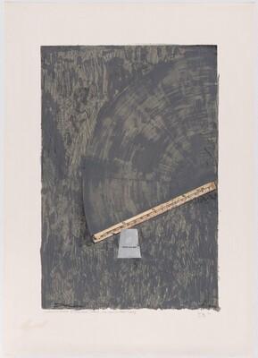 Good Time Charley II [working proof II - collage, chalk, ink, crayon addition]