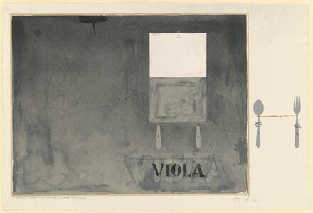 Viola [working proof - ink, crayon, collage]