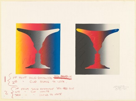 Cups 4 Picasso [working proof with crayon additions]