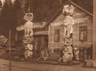 Carved Posts at Alert Bay [Plate 330]
