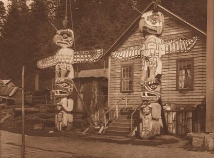 Carved Posts at Alert Bay [Plate 330]
