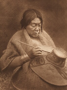 Painting a Hat - Nakoaktok [Plate 329]