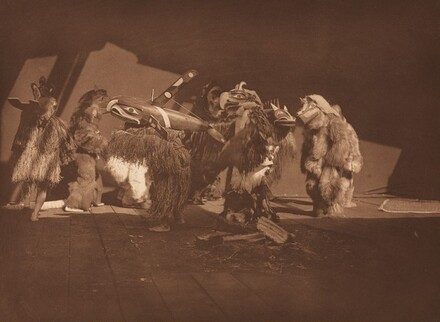 Group of Winter Dancers - Qágyuhl [Plate 348]