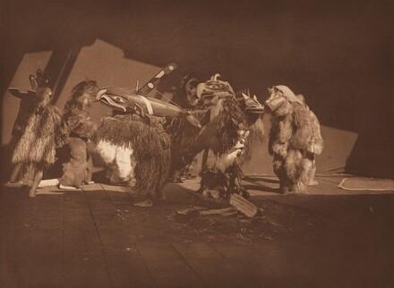 Group of Winter Dancers - Qágyuhl [Plate 348]
