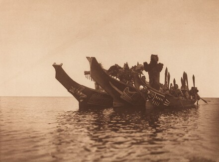 Masked Dancers in Canoes - Qágyuhl (a) [Plate 351]