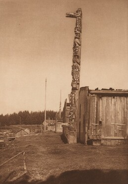 Qágyuhl Village at Fort Rupert [Plate 353]