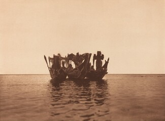 Masked Dancers in Canoes - Qágyuhl (b) [Plate 362]