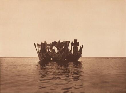 Masked Dancers in Canoes - Qágyuhl (b) [Plate 362]