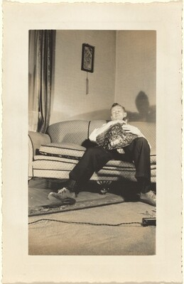 Untitled (Man sleeping with turtle)