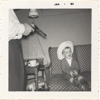 Taken Dec. 20 at home 1959. Bud and Jeff.