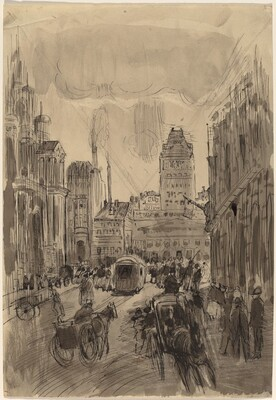Street Scene, Carriages