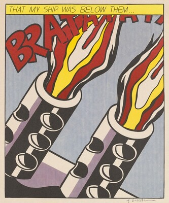 Roy Lichtenstein, As I Opened Fire [right panel], 1966