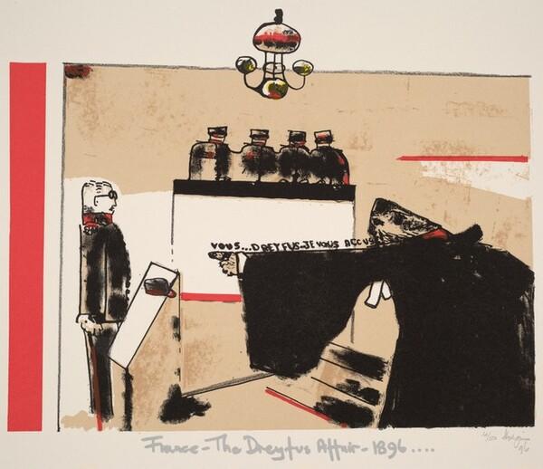 France - The Dreyfus Affair - 1896, from Ubu centenaire: Histoire d'un farceur criminel