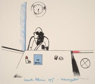 South Africa - 197? - Interrogator, from Ubu centenaire: Histoire d'un farceur criminel