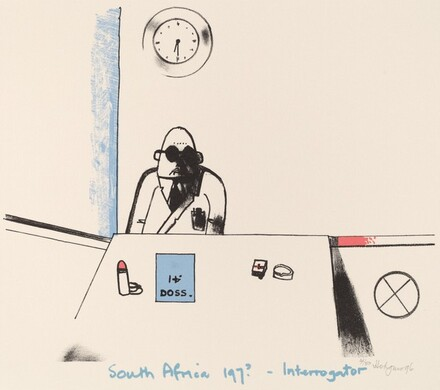 South Africa - 197? - Interrogator, from Ubu centenaire: Histoire d'un farceur criminel