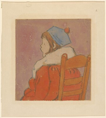 Petit profil (Seated Girl Wearing a Red Coat and a Blue Hat)