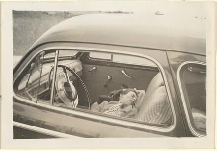 Untitled (Woman asleep in car)