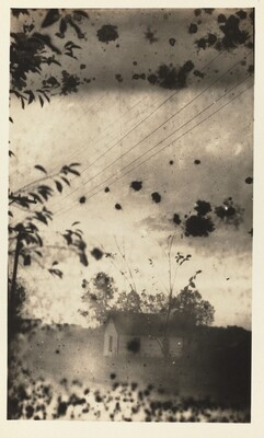 Untitled (House in windstorm)