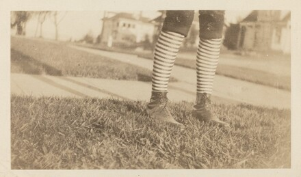 Untitled (Striped stockings and boots)