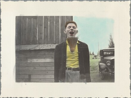 Untitled (Young man with broom in shirt)