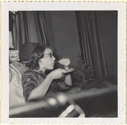 Xmas '56 Doris 'May need a Bicarbonate?'
