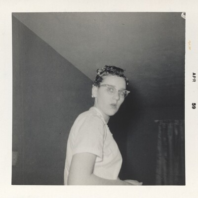 Doris Wright, February 1959