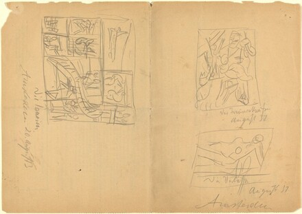(Sketches on Verso of Moving Slip)