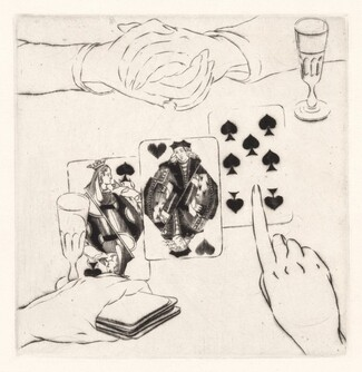 Les Cartes (The Cards) [plate 15]