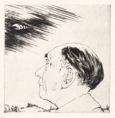 L'Homme qui Voit dans le Nuages (The Man who Sees in the Mist) [plate 4]