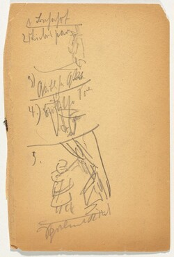 Skizze und Notizen (Sketch with Notations) [between pages 8-9]