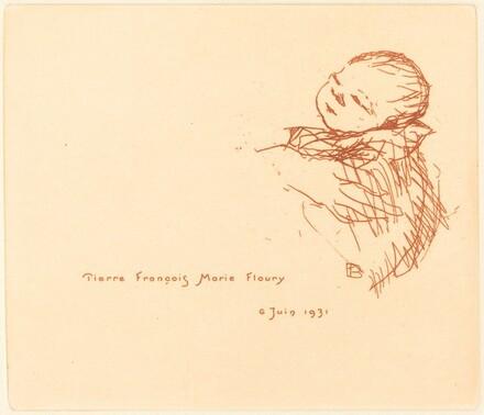Billet de naissance de Pierre François Marie Floury