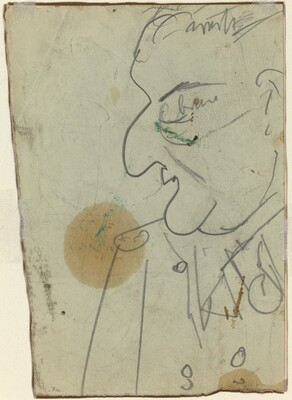 Männliches Profil (A Man in Profile)