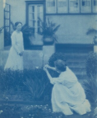 Letitia Felix and Her Sister in a Garden