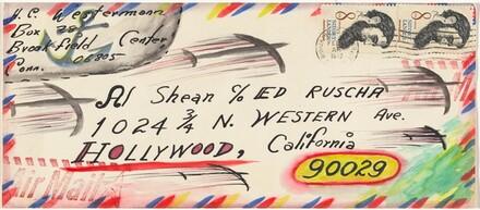 Al Shean c/o Ed Ruscha [envelope]
