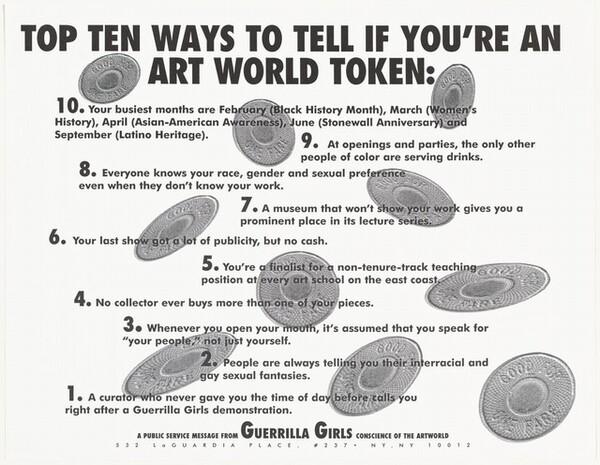 Top Ten Ways to Tell if You're an Art World Token