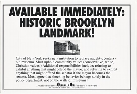 Available Immediately: Historic Brooklyn Landmark!