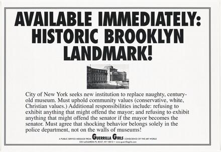 Available Immediately: Historic Brooklyn Landmark!