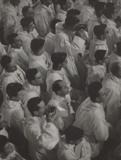 David Seymour (Chim), French Croix de Bois Choir Members at a Papal Mass, 1949