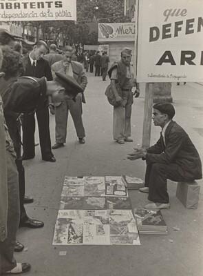 Street Vendor, Barcelona, Spanish Civil War