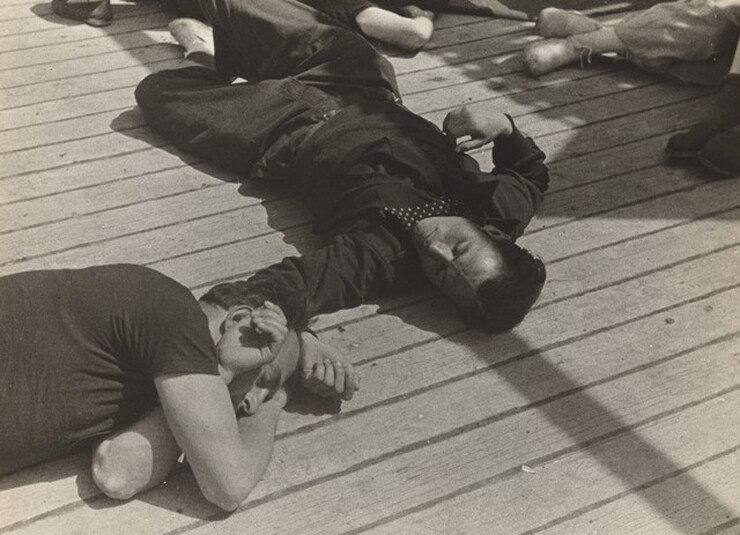 David Seymour (Chim), Spanish Refugees aboard S.S. Sinaia, 1939