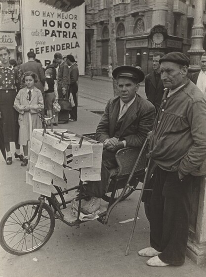 David Seymour (Chim), National Lottery, Barcelona, Spanish Civil War, 1938