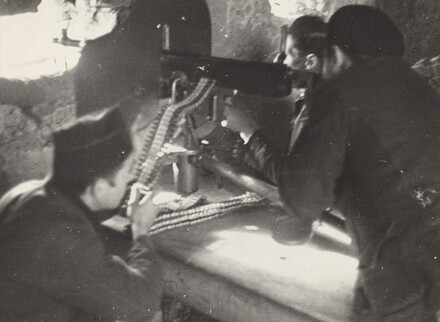 Machine-Gunners at the Battle of Oviedo, Spanish Civil War