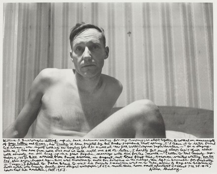 William S. Burroughs sitting up in back bedroom waiting for my company...