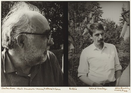Charles Olson 1963 Vancouver. Warren Tallman's house. Bobbie. Robert Creeley Working Proof.