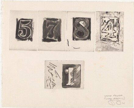 Untitled (State Proofs and Proofs of Numbers) [state proof with pencil - 5, 7, 8, 4, 1]