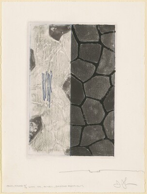 Flagstones (b) [trial proof 4/6, with ink, pencil, gouache additions]