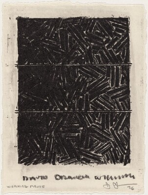 Untitled (Bookplate for David Grainger Whitney) [working proof with crayon]