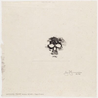 Untitled (Bookplate for David Grainger Whitney) [working proof with pencil]